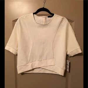 NWT ZARA Criss Crossed Structured Top